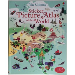STICKER BOOK - PICTURE ATLAS OF THE WORLD