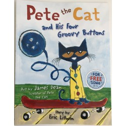 "STORYBOOK - PETE THE CAT ""AND HIS FOUR GROOVY BUTTONS"""
