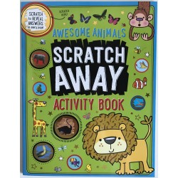ACTIVITY BOOK SCRATCH AWAY - AWESOME ANIMALS