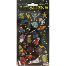 STICKERS - SPACE ALIENS