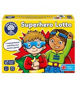 MATCHING AND MEMORY GAME - SUPERHERO LOTTO