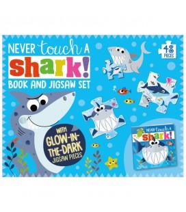 NEVER TOUCH A SHARK! - BOOK AND JIGSAW SET