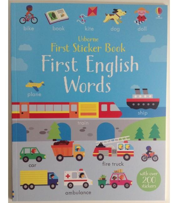 STICKER BOOK - ENGLISH